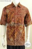 Toko Online Baju Batik Premium, Sedia Baju Batik Pria Eksklusif Bahan Adem Proses Tulis Motif Bagus Model Lengan Pendek Full Furing [LD8417TF-XL]
