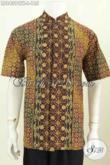 Baju Batik Pria Indonesi, Hadir Dengan Model Koko Kerah Shanghai, Pakaian Batik Modis Untuk Penampilan Lebih Trendy [LD8439CTK-L]