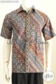 Baju Batik Pria Model Terbaru, Hem Batik Lengan Pendek Halus Motif Terkini Proses Cap Tulis Harga 185K [LD8463CT-S]
