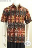 Foto Model Baju Batik Pria Size M, Kemeja Batik Lengan Pendek Motif Unik Cap Tulis, Keren Untuk Jalan-Jalan Dan Kerja Kantoran [LD8490CT-M]