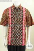Harga Grosir Baju Batik Pria 185K, Pakaian Batik Istimewa Dan Berkelas Buatan Solo Asli Model Lengan Pendek Motif Cap Tulis Di Jual Online [LD8508CT-XL]