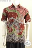 Jual Baju Batik Pria Modern, Hadir Dengan Desain Keren Motif Keren Proses Tulis Model Lengan Pendek Harga 455K [LD8513TF-M]