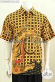Model Baju Batik pria Modern Untuk Kerja Dan Hangout, Hem Batik Full Furing Lengan Pendek Motif Trendy Masa Kini Proses Tulis Di Jual Online 455K [LD8533TF-XL]