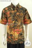 Baju Hem Batik Premium Size XL, Kemeja Batik Lengan Pendek Full Furing Motif Terbaru Yang Bikin Pria Terlihat Gagah Dan Elegan [LD8534TF-XL]