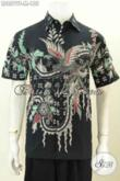 Produk Terbaru Baju Batik Kantoran Pria, Hem Batik Modis Motif Trendy Proses Tulis Model Lengan Pendek, Tampil Ganteng Maksimal [LD8579T-M]