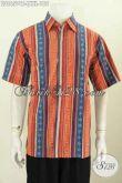 Baju Batik Pria Kombinasi 2020, Busana Batik Modern Lengan Pendek Proses Cap Tulis, Keren Untuk Gaul Dan Modis Buat Kerja Harga 185K [LD8657CT-L]