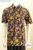 Baju Batik Lengan Pendek Pria Proses Cap Tulis, Hadir Dengan Motif Terbaru Yang Modis Untuk Pesta Dan Hangout Harga 180 Ribuan Size L [LD8664CT-L]