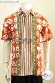 Produk Terkini Kemeja Batik Solo Halus Motif Bagus Proses Cap Tulis, Baju Batik Pria Bagus Lengan Pendek Hanya 185K [LD8692CT-M]
