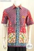 Batik Hem Trendy Lengan Pendek Elegan Dan Keren, Baju Kemeja Batik Untuk Pria Tampil Gagah Dan Tampan Lengan Pendek Proses Cap Tulis [LD8698CT-L]