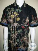 Batik Tulis Motif Bambu, Hem Batik Pria Lengan Pendek, Bisa Untuk Kerja Kantor [LD869T-L]