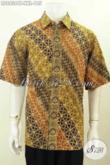Sedia Baju Batik Pria Big Size Lengan Pendek Motif Bagus Bahan Adem Proses Cap Tulis Untuk Kerja Dan Acara Formal Tampil Beda [LD8836CT-XXL]