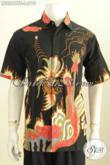 Sedia Pakaian Batik Modern Lengan Pendek Motif Bagus Tulis Soga Kwalitas Istimewa Untuk Tampil Gagah Mempesona [LD8849TS-L]
