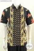 Baju Batik Lengan Pendek Pria Muda 2020, Pakaian Batik Elegan Dasar Hitam Motif Unik Dan Berkelas Proses Tulis Soga Hanya 155K [LD8856TS-M]