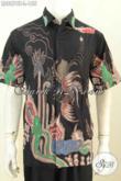 Baju Batik Pria Indonesia, Hem Lengan Pendek Modis Keren Size L Harga 155K Proses Tulis, Cocok Banget Buat Seragam Kerja [LD8876T-L]