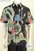 Produk Batik Hem Solo Istimewa, Pakaian Batik Halus Dasar Hitam Lengan Pendek Motif Trendy Proses Tulis Harga 155 Ribu Saja [LD8879T-L]
