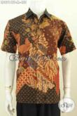 Model Baju Batik Modern Untuk Kerja Pria, Pakaian Batik Berkelas Proses Tulis Lengan Pendek Full Furing, Tampil Lebih Gagah [LD8914TF-M]