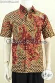 Batik Hem Halus Motif Mewah Buatan Solo, Kemeja Batik Full Furing Istimewa Lengan Pendek, Penampilan Lebih Berkelas [LD8918TF-M]