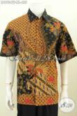Model Jahitan Baju Batik Pria Terbaru Lebih Rapi Dan Halus, Pakaian Batik Kerja Premium Full Furing Lengan Penadek Motif Tulis Asli 400 Ribuan [LD8934TF-XL]