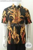 Jual Baju Batik Kerja Modern Pria, Pakaian Batik Modis Motif Unik Proses Tulis Soga Kwalitas Premium 200 Ribuan Saja [LD9053TS-M]