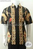 Jual Kemeja Batik Modern Nan Berkelas, Pakaian Batik Solo Jawa Tengah Tulis Soga Motif Bagus Banget, Tampil Makin Gaya [LD9067TS-L]