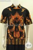 Baju Batik Pria Kwalitas Premium 200 Ribuan, Hem Batik Bagus Proses Tulis Motif Keren, Tampil Makin Beken [LD9296T-M]