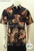 Baju Batik Kerja Modern Pria Lengan Pendek Size L, Kemeja Batik Tulis Premium Non Furing Hanya 200 Ribuan [LD9306T-L]