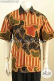 Hem Batik Tulis Halus Motif Bagus Lengan Pendek, Pakaian Batik Pria Dewasa Untuk Tampil Gagah Berwibawa Harga 455K Lengan Pendek Pake Furing [LD9363TF-XL]