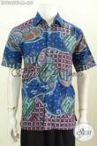 Kemeja Keren Lengan Pende Bahan Batik Tulis, Pakaian Batik Pria Muda Untuk Tampil Gaya Dan Modis Daleman Full Furing 400 Ribuan [LD9382TF-M]