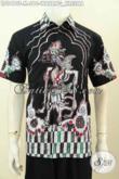 Jual Online Hem Batik Modern, Pakaian Batik Pria Masa Kini Lengan Pendek Motif Wayang Kresna Proses Tulis, Pas Buat Kerja Kantoran [LD9410T-M]