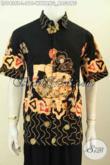 Desain Baju Batik Pria Modern, Kemeja Batik Solo Istimewa Proses Tulis Motif Wayang Bagong Harga 210K [LD9426T-L]