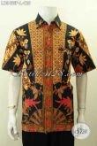Baju Batik Hem Pria Nan Elegan, Kemeja Batik Istimewa Motif Klasik Bahan Halus Proses Printing, Di Jual Online 125K [LD9465P-L]