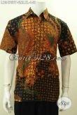 Aneka Baju Batik Trendy Dengan Motif Klasik, Busana Batik Istimewa Lengan Pendek Proses Kombinasi Tulis, Pas Untuk Kerja Dan Acara Resmi [LD9475BT-XL]