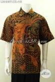 Model Baju Batik Modern Untuk Pria Kerja, Hadir Dengan Motif Klasik Elegan Kombinasi Tulis Model Lengan Pendek Harga 145K [LD9490BT-XXL]