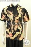 Hem Batik Pria Muda, Baju Batik Kerja Dan Jalan-Jalan Motif Burung Cendrawasih Proses Tulis Soga, Di Jual Online 210K [LD9549TS-M]