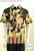 Toko Online Pakaian Batik Pria, Sedia Hem Lengan Pendek Tulis Soga Motif Burung Cendrawasih, Cocok Untuk Acara Santai Dan Resmi [LD9557TS-M]