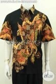 Pakaian Batik Pria Dewasa, Baju Batik Tulis Berkelas Motif Burung Cendrawasih Proses Tulis Soga, Pilihan Tepat Tampil Sempurna [LD9566TS-XL]