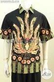 Toko Pakaian Batik Online Paling Up To Date, Sedia Baju Batik Pria Motif Unik Lengan Pendek Proses Tulis Soga, Cocok Untuk Santai Dan Resmi [LD9569TS-XL]