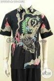 Baju Batik Santai Motif Naga, Kemeja Batik Solo Lengan Pendek Halus Modis Proses Tulis, Cocok Juga Untuk Kerja [LD9584T-M]