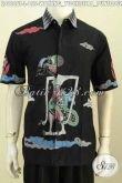 Jual Baju Batik Lengan Pendek Pria Proses Tulis, Hem Batik Motif Wayang Yudhistira Bahan Halus Hanya 155K [LD9606T-L]
