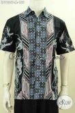 Batik Hem Keren Lengan Pendek Motif Kombinasi, Baju Batik Tulsi Untuk Pria Muda Tampil Gaya Mempesona [LD9634T-M]