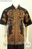 Hem Batik Kerja Pria Dewasa, Busana Batik Premium Solo Full Furing Model Lengan Pendek, Busana Batik Tulis Soga Berkelas Untuk, Cocok Untuk Acara Resmi [LD9646TSF-XL]