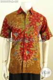 Desain Baju Batik Pria Terbaru, Hem Batik Keren Lengan Pendek Proses Tulis Motif Trendy Daleman Pake Furing, Tampil Makin Gagah [LD9649TF-M]