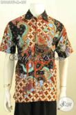 Pusat Belanja Baju Batik Pria Online Terpercaya, Sedia Hem Lengan Pendek Premium Full Furing Motif Bagus Proses Tulis Ukuran M Buat Pria Muda Tampil Gaya [LD9656TF-M]