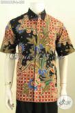 Produk Baju Batik Premium Solo, Kemeja Lengan Pendek Seragam Kerja Pria Kantoran Motif Tulis Asli Bahan Adem Daleman Full Furing Hanya 455K [LD9666TF-L]