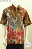 Baju Batik Elegan Dengan Motif Terkini Paduan Modern Klasik Nan Berkelas, Baju Kerja Lengan Pendek Full Furing Proses Tulis, Di Jual Online 455K, Spesiak Pria Dewasa [LD9671TF-XL]