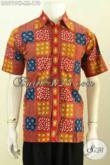 Batik Kemeja Cap Tulis, Baju Batik Solo Modis Motif Unik Desain Kekinian Untuk Penampilan Lebih Tampan [LD9719CT-L]