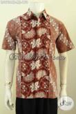 Hem Batik Kerja Pria Motif Kombinasi, Kemeja Batik Modis Halus Desain Keren Proses Cap Tulis, Tampil Gaul Dan Elegan [LD9724CT-M]