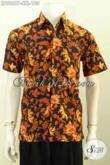 Hem Batik Lengan Pendek, Kemeja Batik Modis Warna Klasik Motif Bagus Proses Printing Desain Kekinian Harga 100K [LD9867P-S]