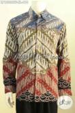 Hem Batik Klasik Lengan Panjang Full Furing Motif Parang, Busana Batik Tulis Nan Istimewa Pria Dewasa Terlihat Berwibawa [LP10006TF-XL]