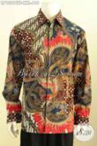 Hem Batik Mahal Lengan Panjang, Kemeja Batik Premium Halus Full Furing, Baju Batik Solo Jawa Tengah Nan Mewah Spesial Buat Lelaki Gemuk  Karir Aktif [LP10012TF-XXL]